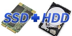 SSD+HDDダブルドライブ搭載可能