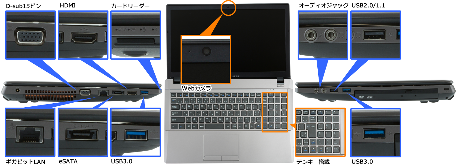 eX.computer note N1542Jシリーズ
