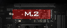 Ultra M.2 32 Gb/s (PCIe Gen3 x4 & SATA3)搭載