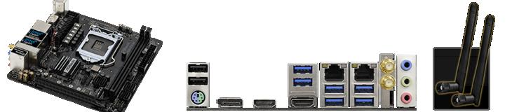 ASRock製 マザーボード Z370M-ITX/ac