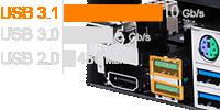 USB 3.1ポートを搭載
