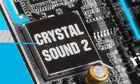 低ノイズにこだわったオーディオ機能 Crystal Sound 2搭載