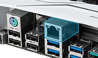 安定性の高いIntel社製 LANチップ採用
